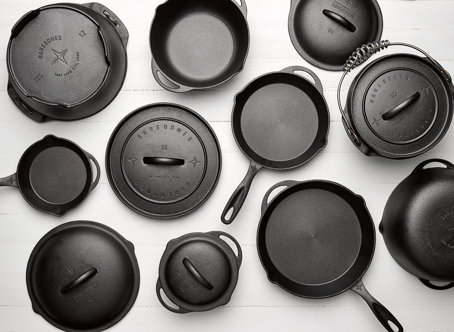 Cast iron pot and pan collection